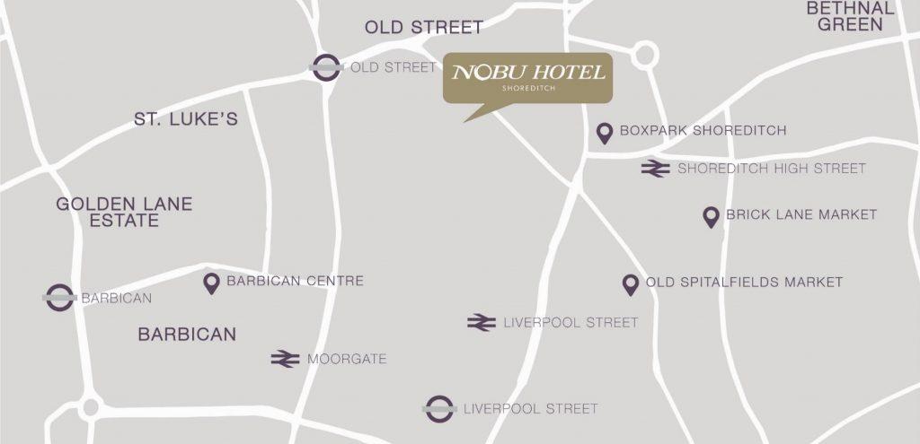 nobu hotel shoreditch map