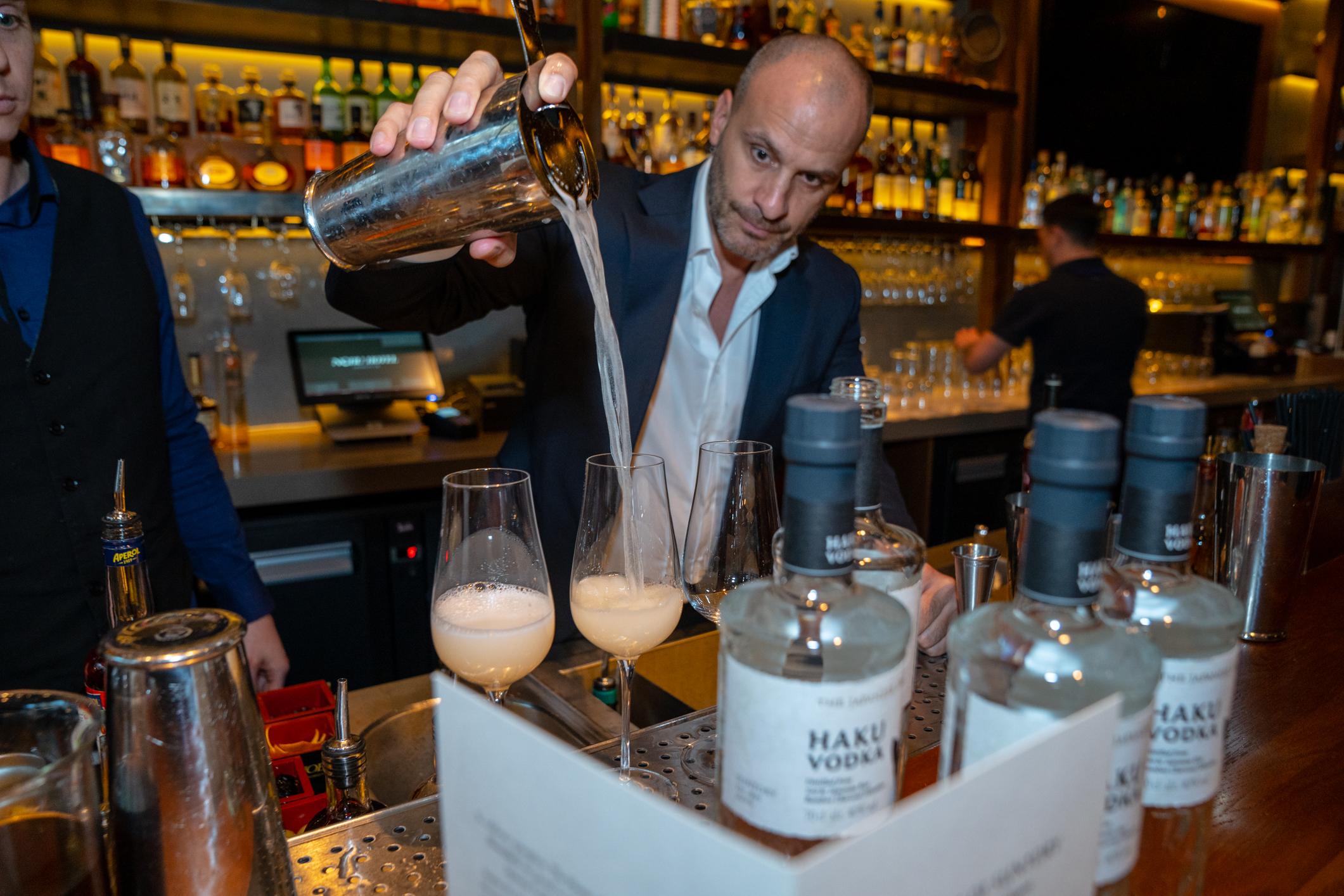 barman at nobu hotel shoreditch