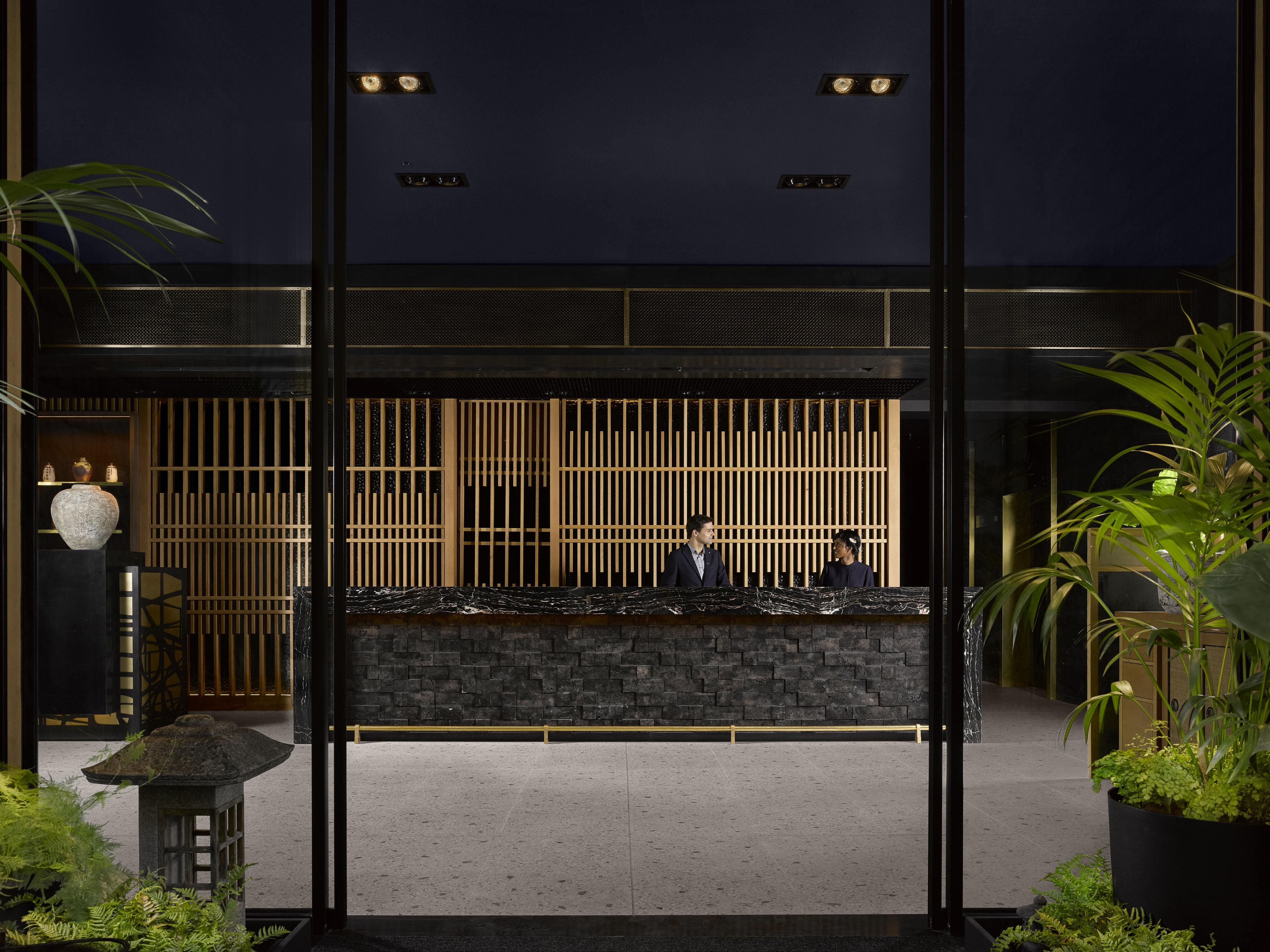 reception at nobu hotel shoredich