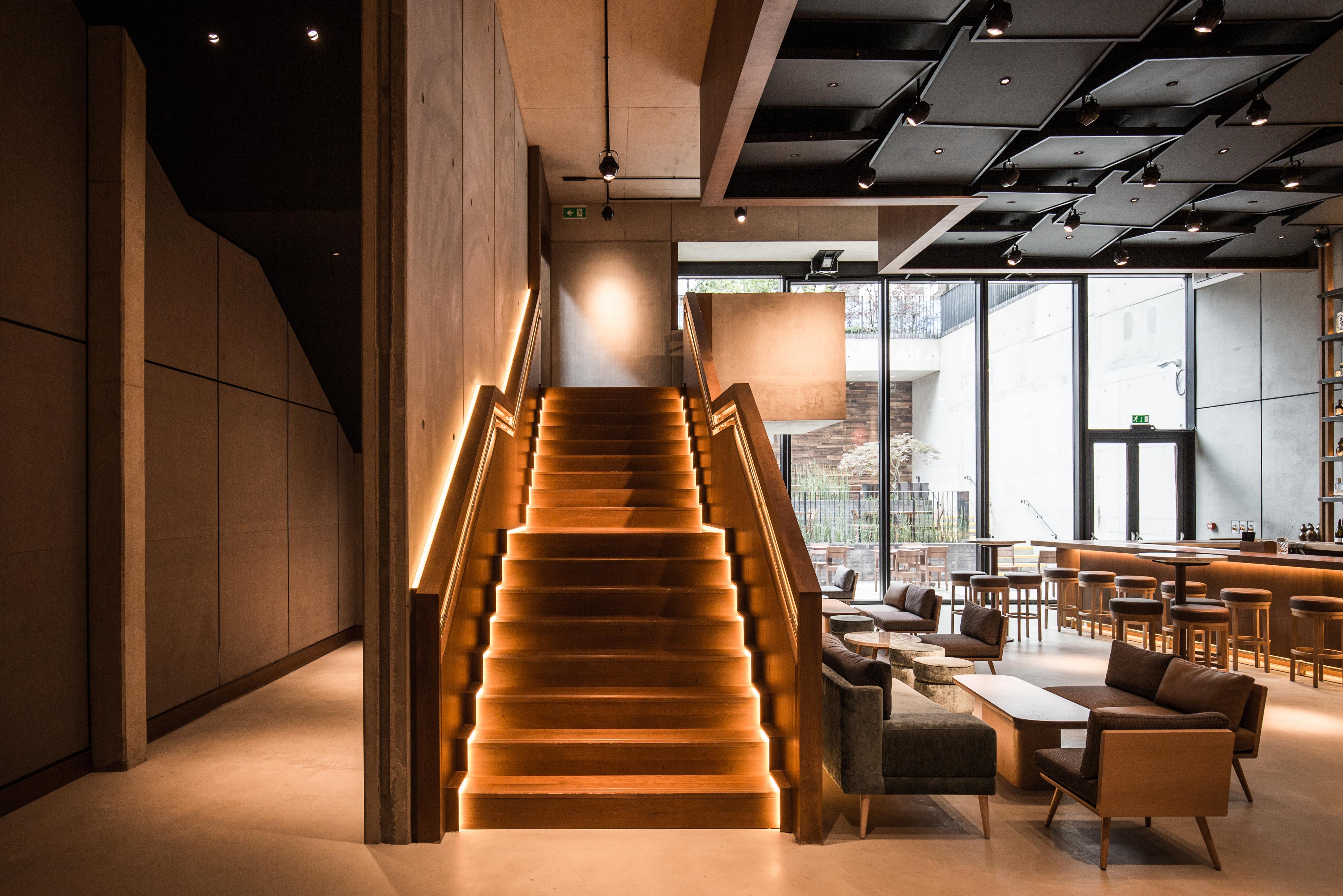 stairs at nobu hotel shoreditch
