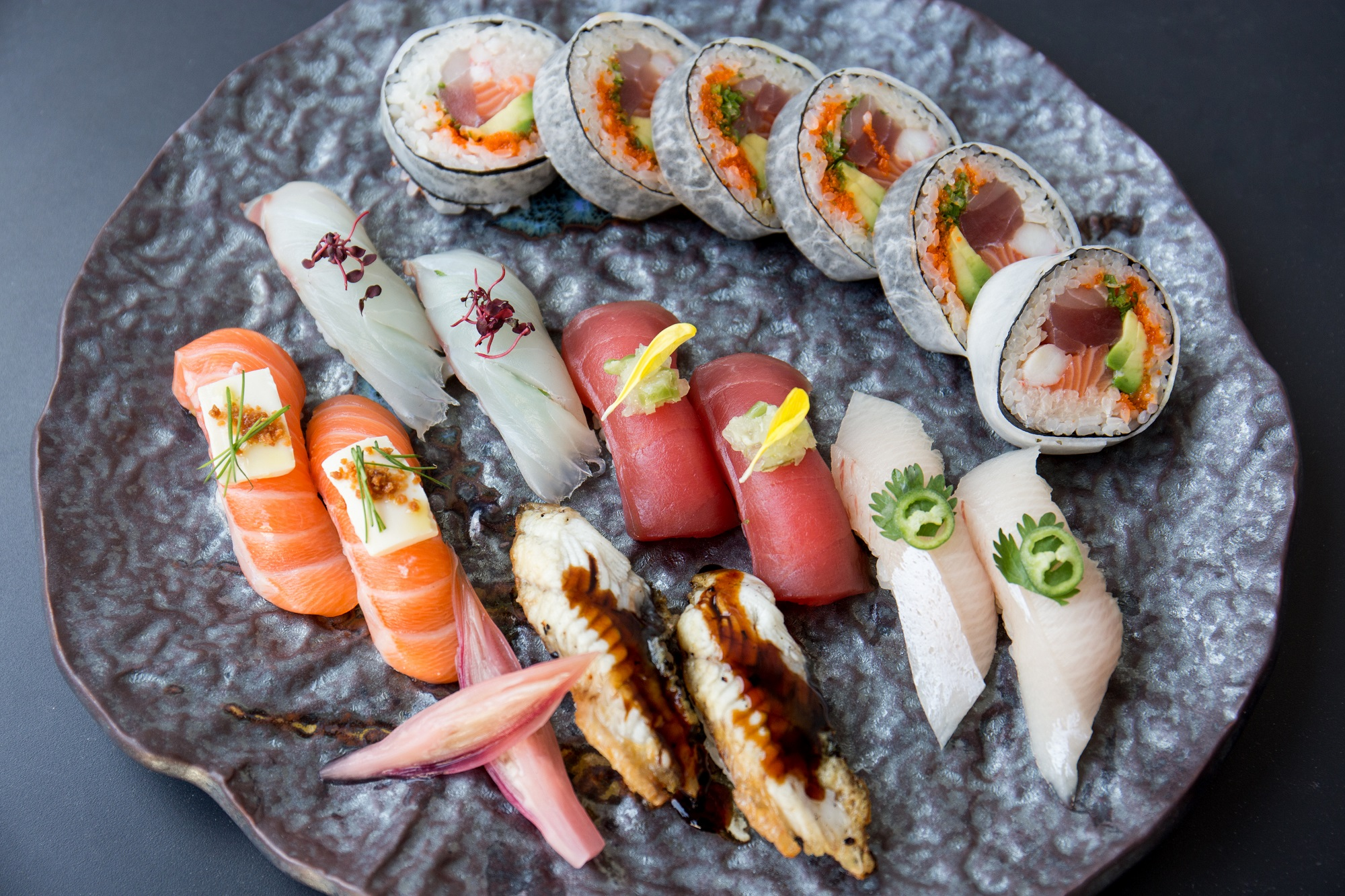 dishes at nobu hotel shoreditch