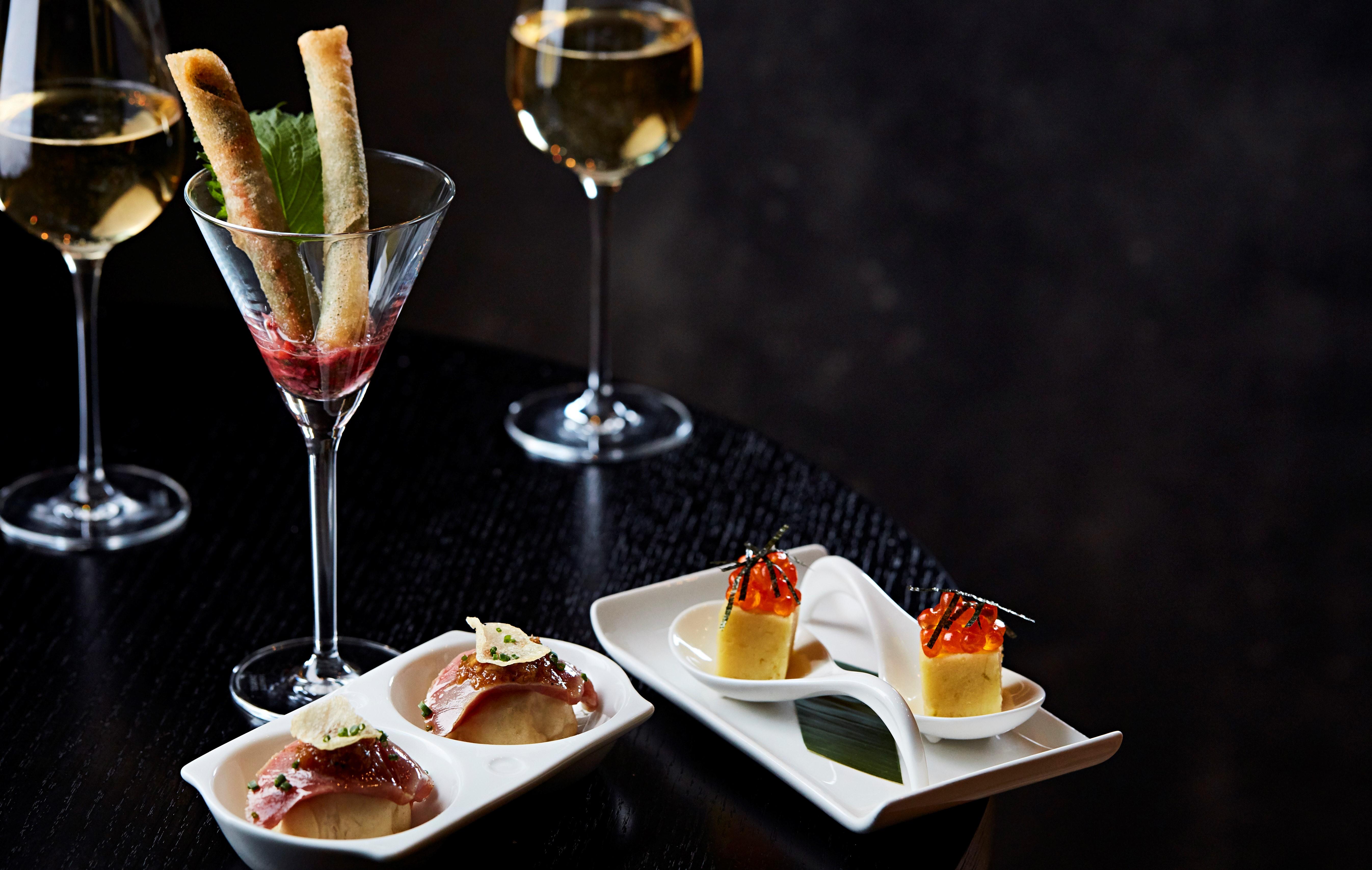 food and drinks at nobu hotel shoreditch