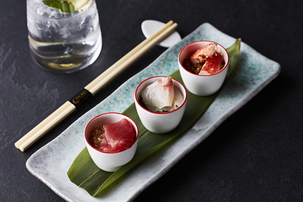 Sashimi Dish At Nobu London Shoreditch Restaurant